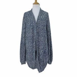 TravelSmith Heavy Popcorn Knit Tunic Cardigan